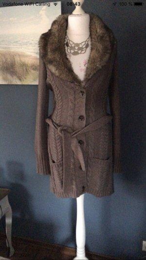 Mexx Wool Jacket grey brown mixture fibre