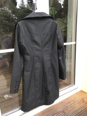 LongJacke, Trenchcoat, tief schwarz