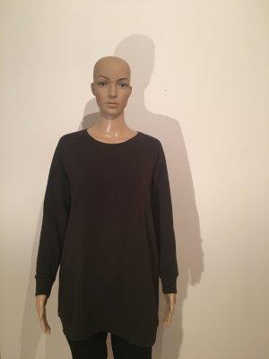 Longpulli H&M Basic m dunkelgrün dunkeloliv Langärmelig Sweat minikleid cool lässig bequem