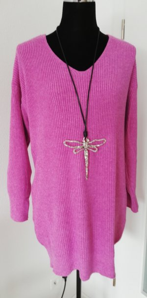 Made in Italy Pull col en V rose
