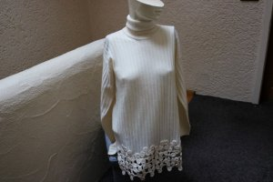 Exclusive Long Sweater natural white merino wool