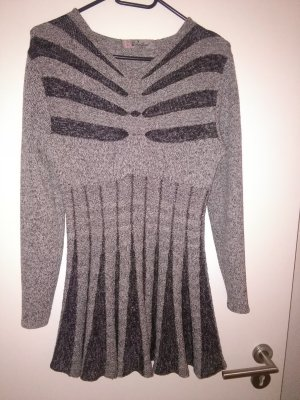 Long Sweater silver-colored
