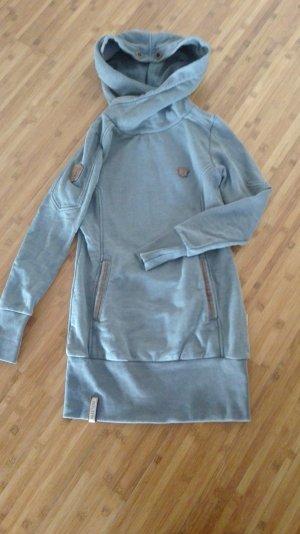 Naketano Long Sweater silver-colored cotton