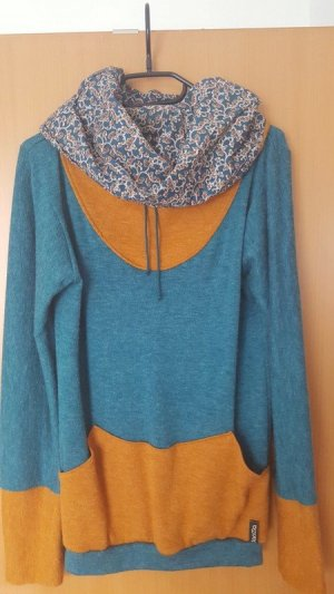 Long Sweater yellow-blue
