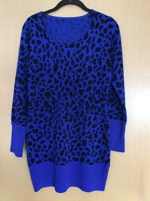 Long Sweater black-blue