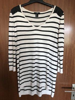 H&M Pull long beige-noir