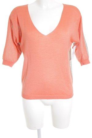 Mrs & HUGS Longpullover apricot-grau Casual-Look