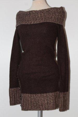 Jane norman Vestido tejido camel-marrón