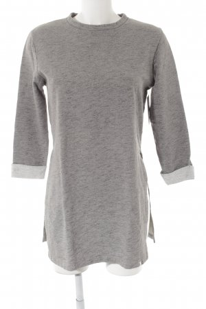ADPT. Long Sweater light grey flecked casual look