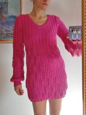 Longpullover in Pink mit passendem Schal ,Gr.38