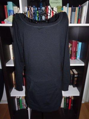 Longpullover in schwarz