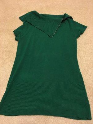 Longpullover in Smaragdgrün Gr 36/38