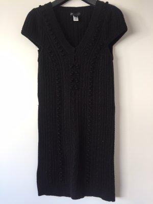Longpullover / Kleid Mango kurzarm schwarz Größe 36/38