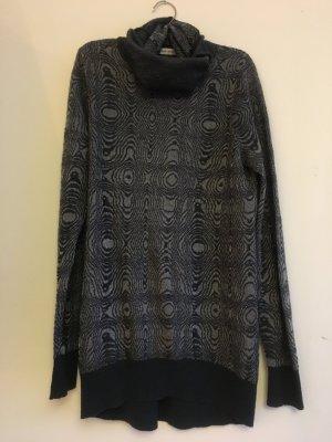 Longpullover / Kleid mit Schalkragen mit Metallic-Effekt