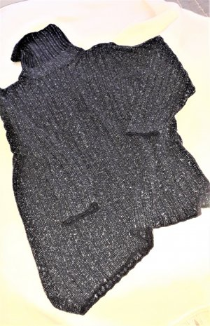 Le Tricot Perugia Long Sweater black-light grey wool