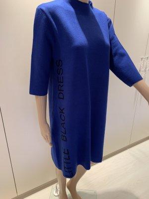 Beauty Women Long Sweater steel blue-black