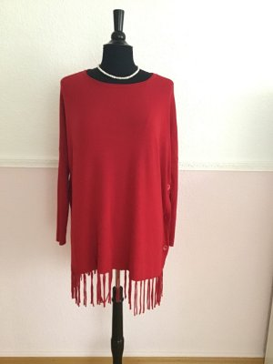 Long Sweater dark red