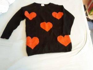 Sweater Dress black-brick red