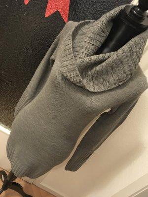 Longpullover Strickkleid Rollkragenpullover H&M Gr. XS grey Winter