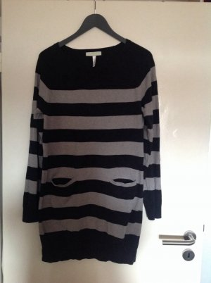 Adidas NEO Long Sweater black-silver-colored cotton