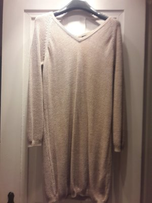 Massimo Dutti Long Sweater sand brown cotton