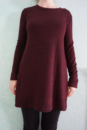 Pull & Bear Long Sweater black-bordeaux