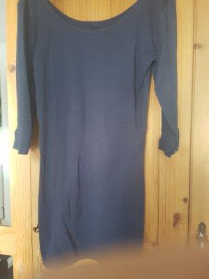 Only Camisa larga azul oscuro