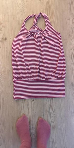Top lungo bianco-viola
