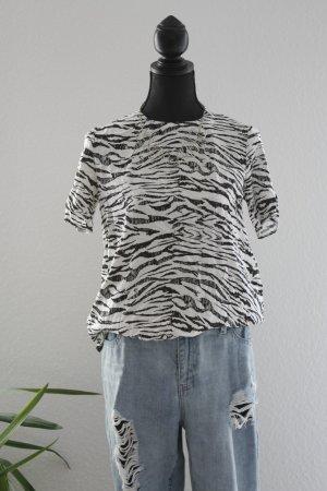Longshirt/bluse Zebraoptik