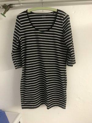Camisa larga negro-blanco