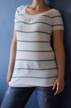 QS by s.Oliver Camisa larga blanco-verde claro Algodón