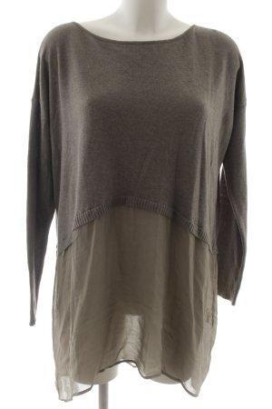 Longshirt grau-graubraun Casual-Look