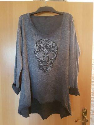 Camicia oversize argento-grigio