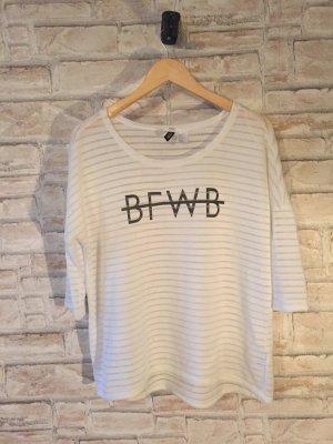 Longshirt H&M weiß Schriftzug
