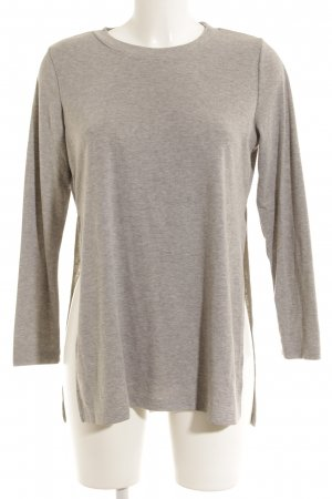 Long Shirt light grey casual look