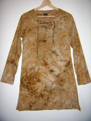 Longshirt Kleid braun batik hippie boho ethno
