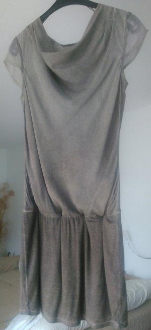 Longshirt/Kleid Wasserfall und mit breitem elastischen Hüftabschluss von Street One in Größe 40