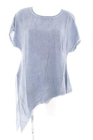 Long Shirt cornflower blue casual look
