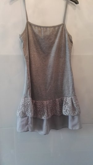Lang shirt lichtgrijs-grijs