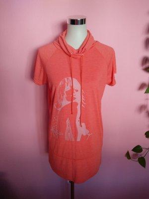 Longshirt mit Aufdruck in lachs (K2)