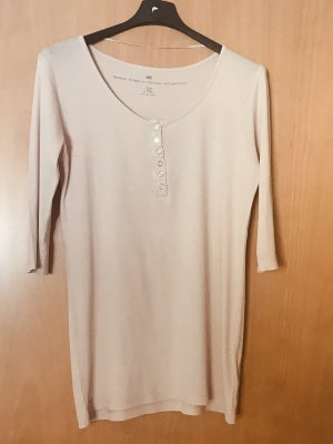H&M Long Shirt nude-rose-gold-coloured cotton