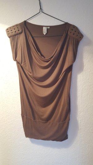 Longshirt mit kurzen Ärmeln Khaki