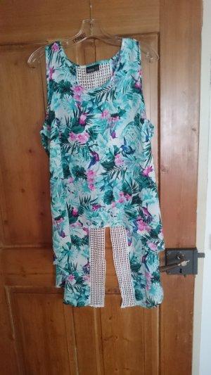 Longshirt mit Spitze und Blumen Print
