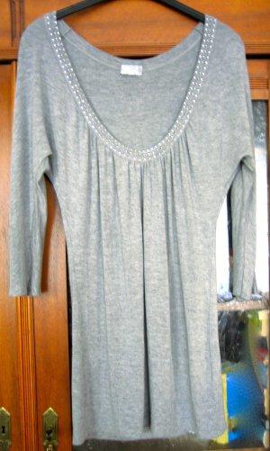 Longshirt mit Strasssteinchen um den Ausschnitt, Oltre