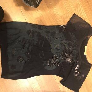 Biba Lang shirt antraciet Viscose