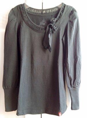 Longshirt mit verzierten Kragen und Schleife Gr. S