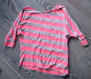 Longshirt oversize gestreift neon