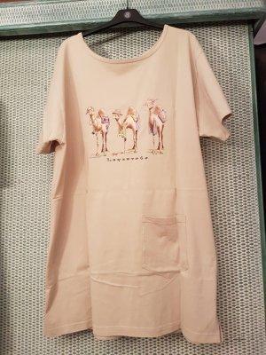 Vestido de tela de sudadera beige