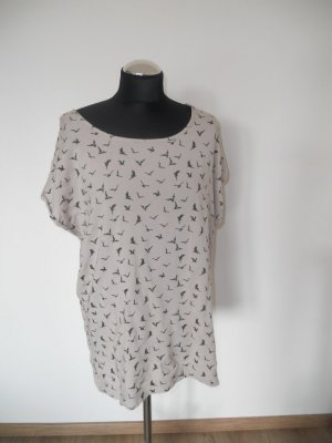 Longshirt Oversized Second Female Gr. M Vogelprint