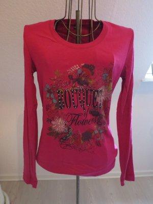 Longshirt pink lila mit süßem Blumenaufdruck von Lerros